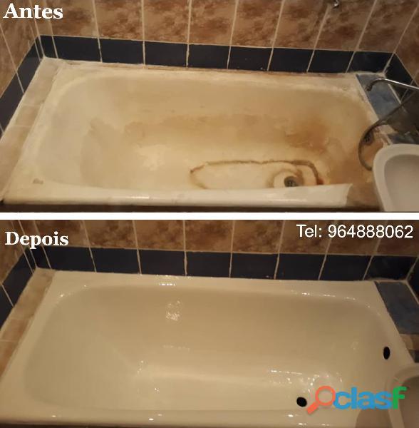 Renovação banheiras. 2