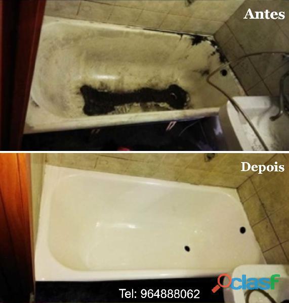 Renovação banheiras. 1