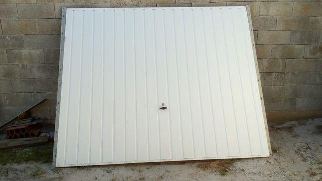 Portão garagem manual branco