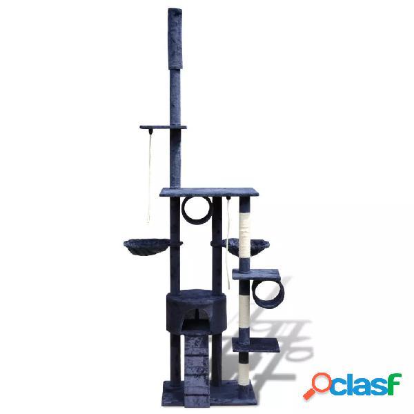 vidaXL Arranhador para gatos com 1 gatera, 220-240 cm / Azul escuro