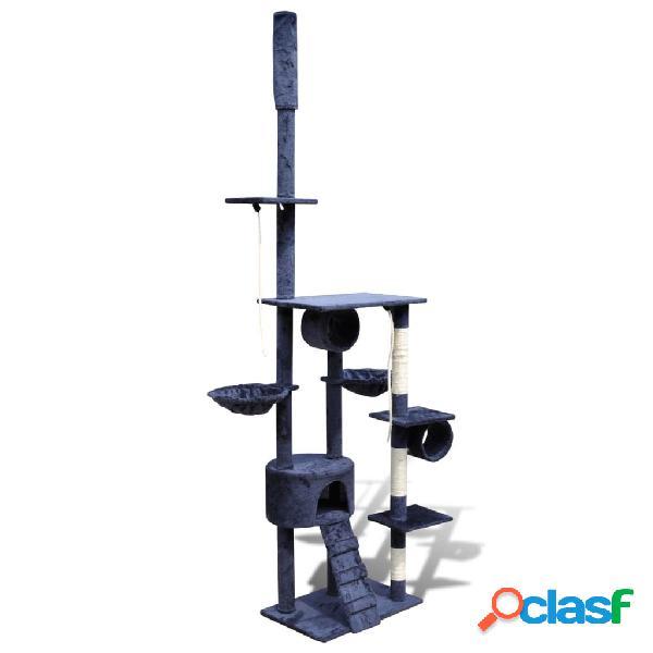 vidaXL Arranhador para gatos com 1 gatera, 220-240 cm / Azul escuro 2