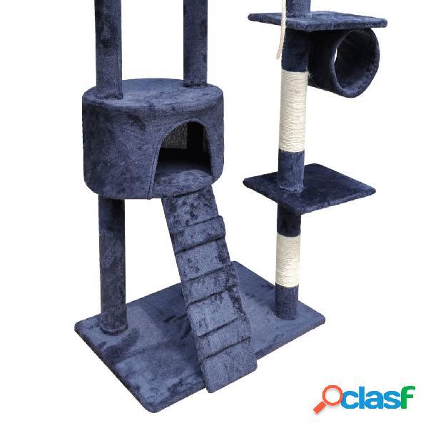 vidaXL Arranhador para gatos com 1 gatera, 220-240 cm / Azul escuro 3