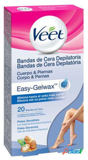 Veet bandas depilatórias de cera 20 unidades pele sensível