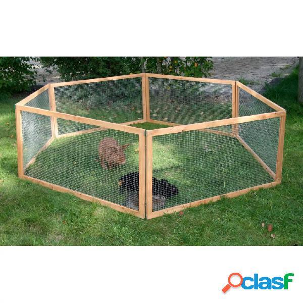 Kerbl recinto p/ animais estimação exterior vario madeira castanho