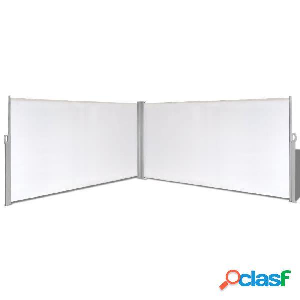 Vidaxl toldo lateral retrátil, 160 x 600 cm, creme