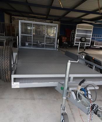 Atrelado reboque novo 3000kg 4.50mx2.05m c. rampa