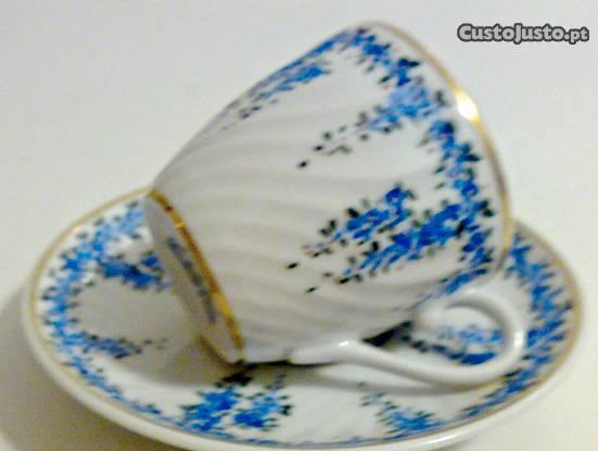 Chávena café vista alegre pintada à mão (várias)