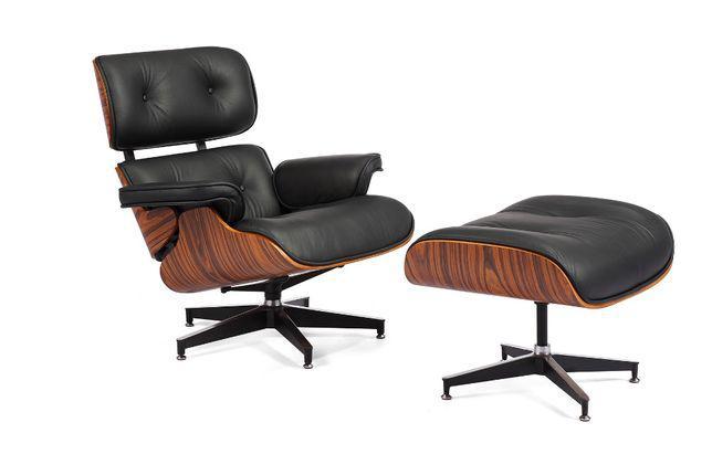 Eames lounge chair pele genuína
