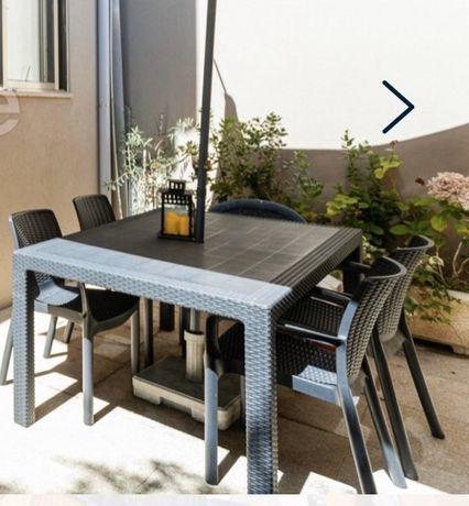 Mesa de jardim cadeiras tipo ratan