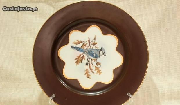 Prato 27 cm colecção chocolate vista alegre 1947