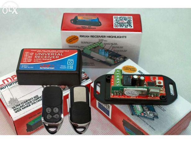 Rxu01 receptor universal automatismo portão + 2 comandos