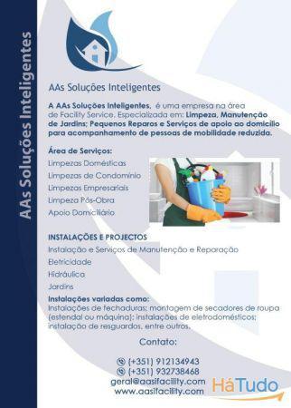 Serviços de limpeza e manutenção e instalação -