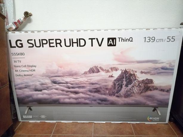 Tv televisão lg led 4k ultra hd 55sk8000plb novagarantia