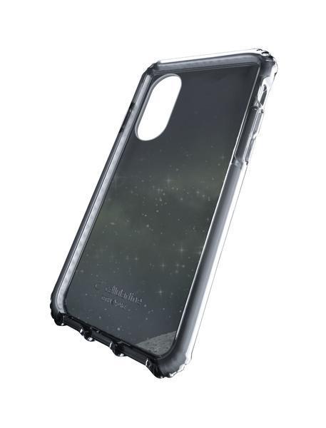 Capa cellularline iphone x plástico preta / transparente