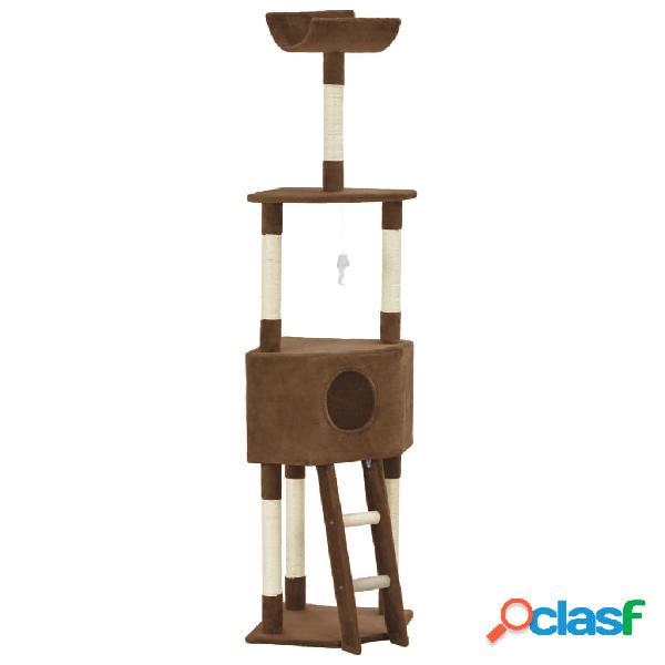 Vidaxl árvore para gatos c/ postes arranhadores sisal 180 cm castanho