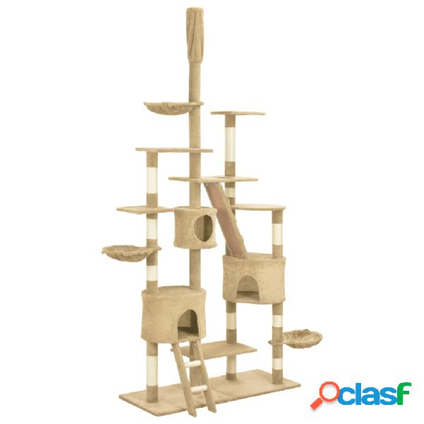 Vidaxl árvore para gatos c/ postes arranhadores sisal 255 cm bege