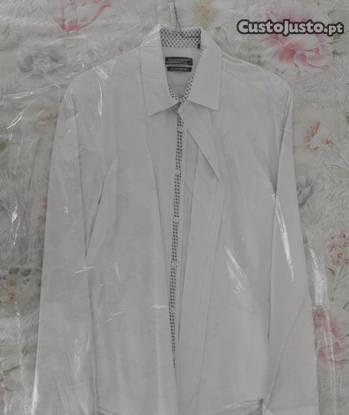 Camisa homem,tamanho l,extra slim fit(under blue)