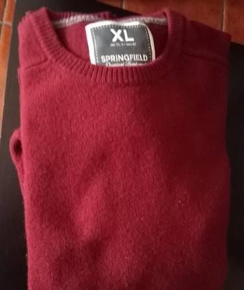 Camisola lã springfield tamanho xl - portes grátis