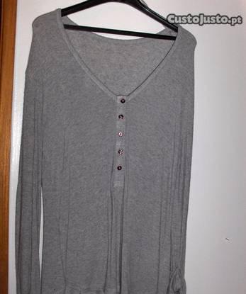 Camisola cinza de algodão, da zara,tam m