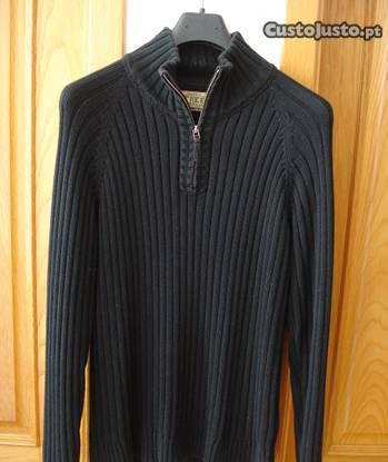 Camisola easy wear azul escura tamanho xl/l