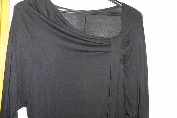 Camisola preta de algodão, zara,tam m