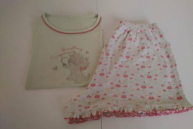 Pijama em 100% algodão para 11/14 anos. como novo