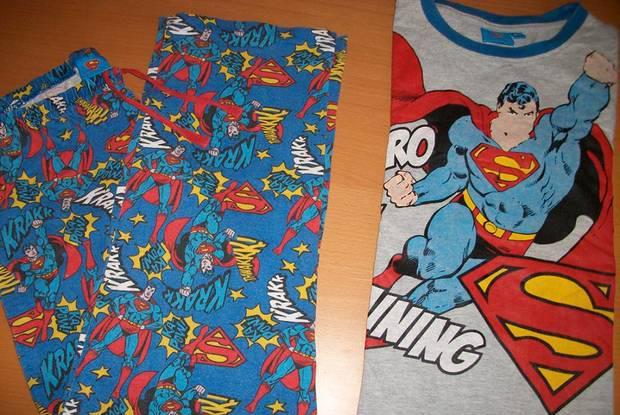 """Roupa original """"superman"""" para criança de 8/9 anos"""
