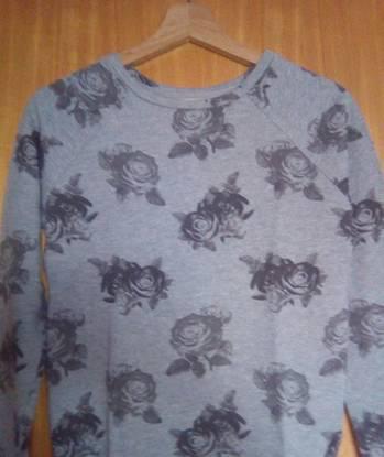 Sweat camisola lefties cinza com flores - tam s