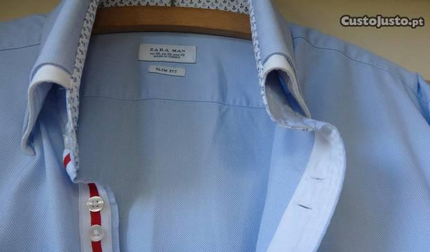 Très óptimas camisas de homem - tam. xl slim fit