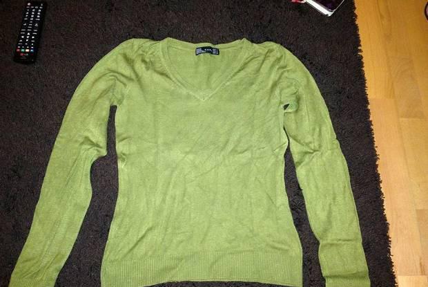 Camisola verde zara tamanho l