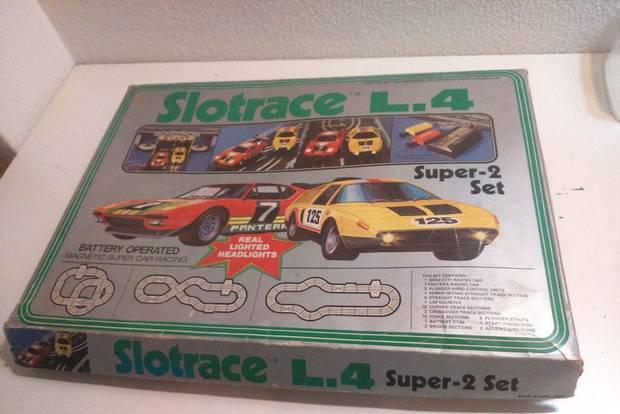 Retro vintage antiga pista de carros de corrida