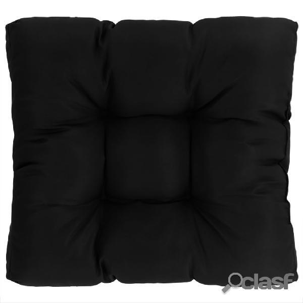 Vidaxl almofada p/ assento jardim 50x50x10 cm tecido preto
