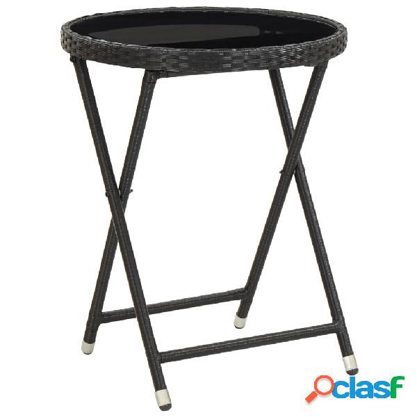 Vidaxl mesa de chá 60 cm vidro temperado preto