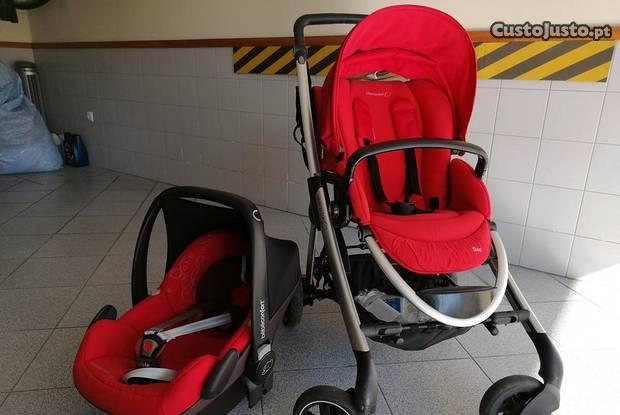 Conjunto de carrinho e cadeira auto bebe confort