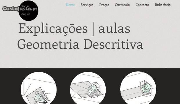 Explicações geometria descritiva,10.º, 11.º e 12.º