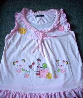 Pijama em algodão cor rosa tamanho m