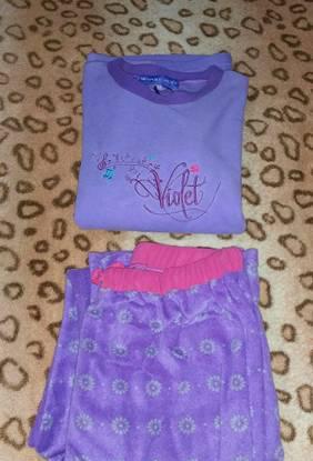 Pijama polar roxo - violeta - tamanho s (novo)