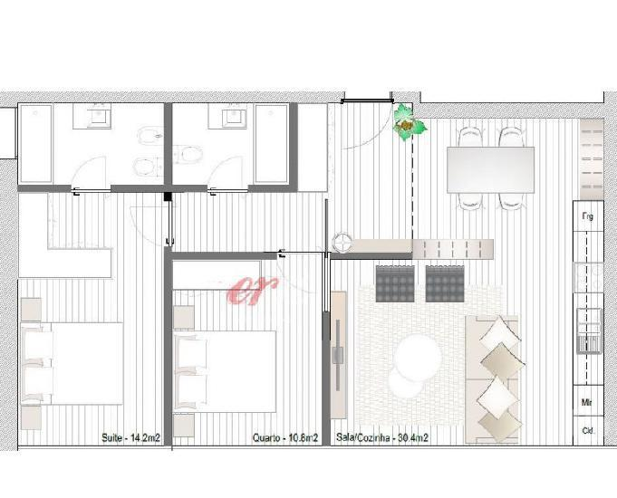 Apartamento t2 novo p venda em matosinhos sul ref 3236ag