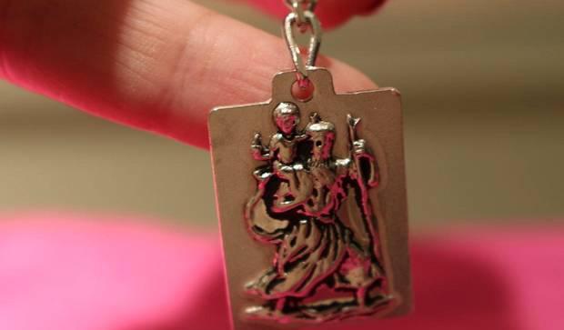Porta chaves prata lei s.cristovão p viajantes 12g