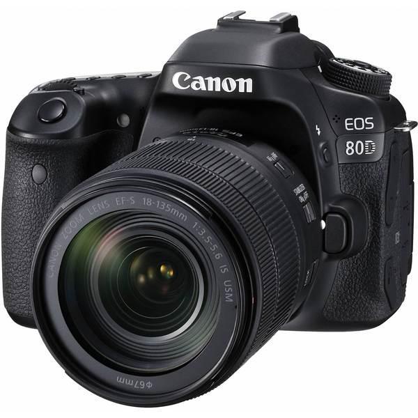 Máquina fotográfica canon eos 80d + 18-135 is usm - reflex