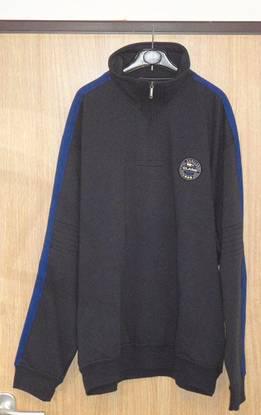 Camisola polar de homem cinza/azul canda