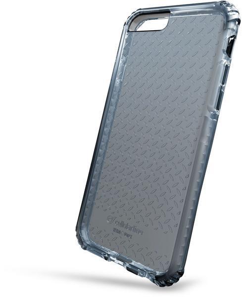 Capa cellularline iphone 7 plástico preta / transparente