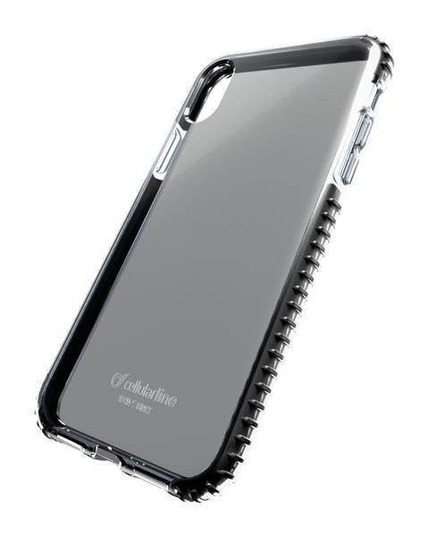 Capa cellularline iphone xr plástico preta / transparente