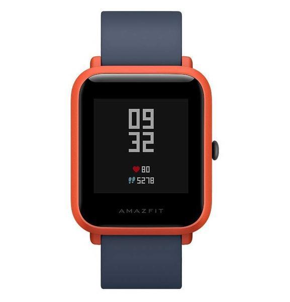 Relógio fitness amazfit bip vermelho