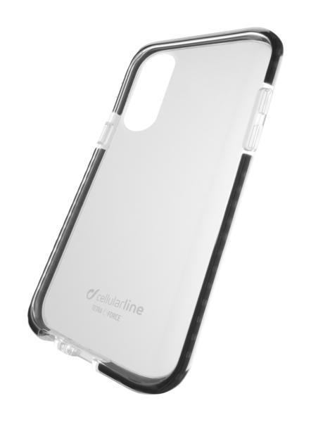 Capa cellularline iphone xs max plástico preta /