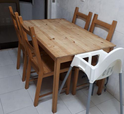 Mesa ikea ingo + 4 cadeiras ikea ivar