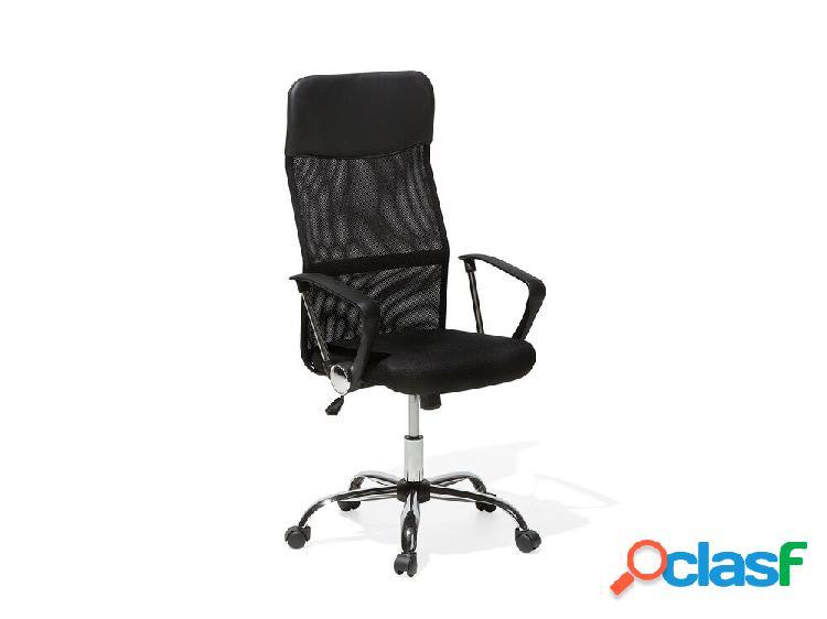 Cadeira de escritório preta - ajustável - design
