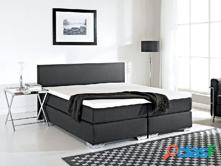 Cama continental preta - 180x200 cm - cama de molas - super king size - president