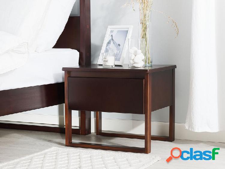 Mesa de cabeceira - nogueira - madeira maciça envernizada - giulia