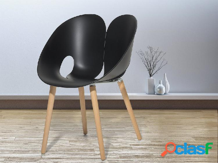 Cadeira preta - plástico - cadeira de refeição - cadeira de jardim - memphis